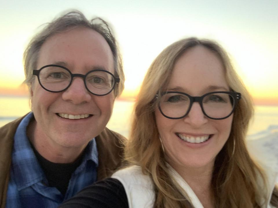 Singer-songwriter Gretchen Peters and her husband, Barry Walsh, a pianist and songwriter who performs with Peters, enjoy their Seagrove, Florida, home.