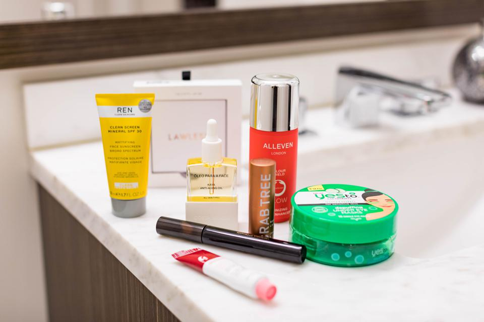 BOSTON, MA - A selection of beauty products