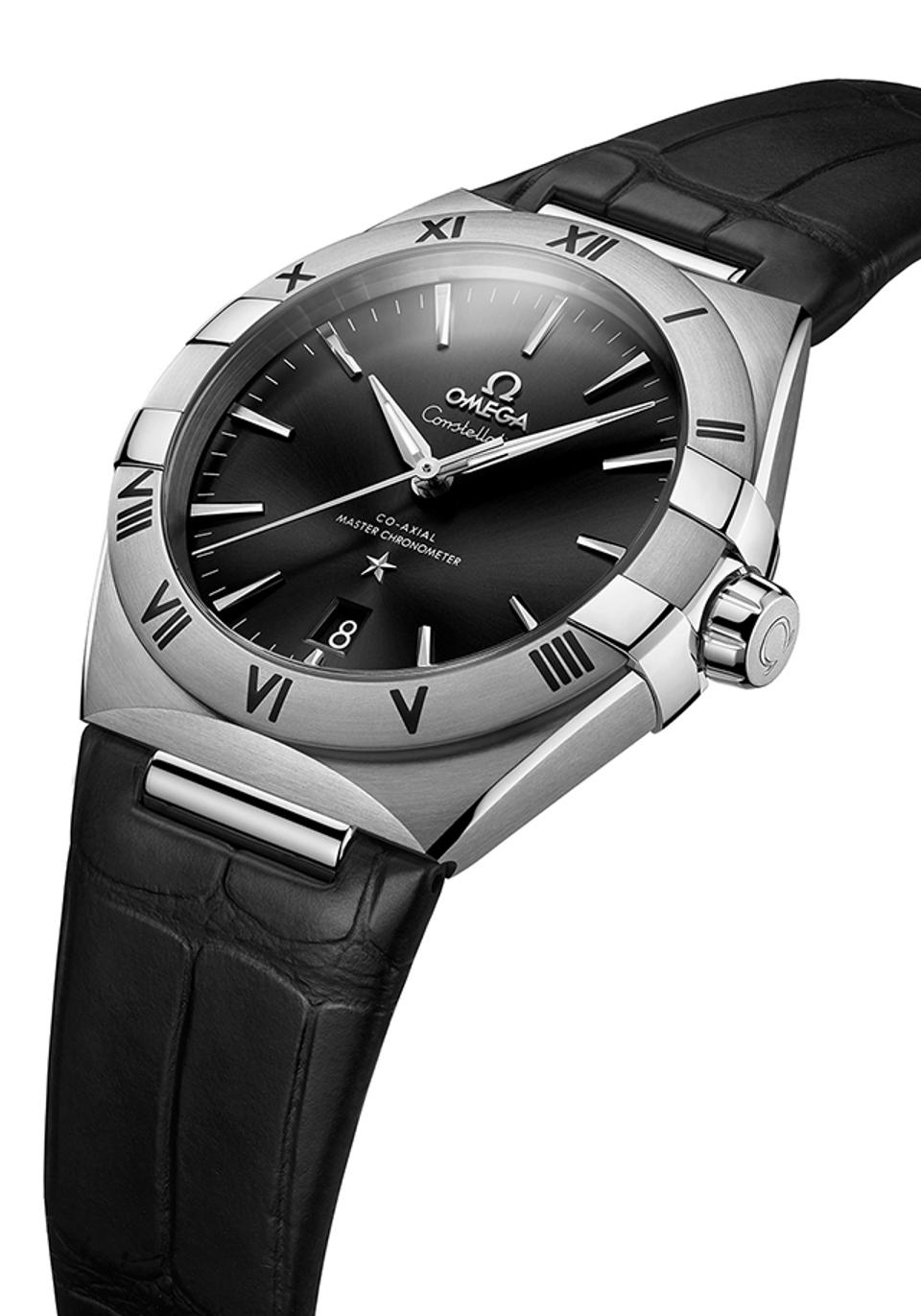 Omega Constellation in steel.