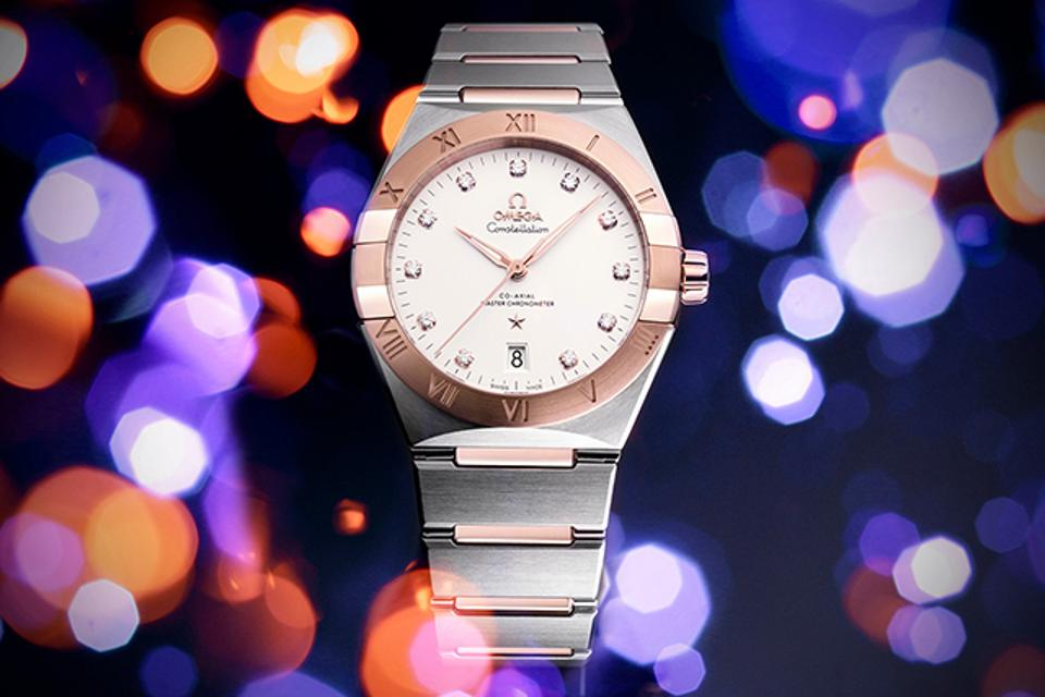 The Omega Constellation in steel and gold.