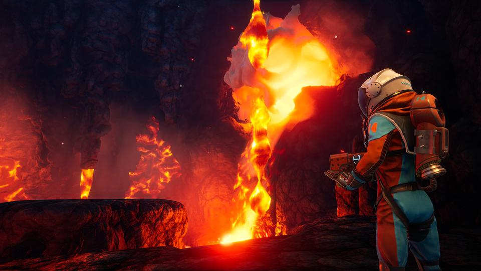 Journey to the Savage Planet lava cave