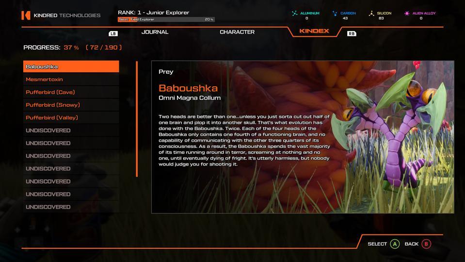 Journey to the Savage Planet Babouskhka