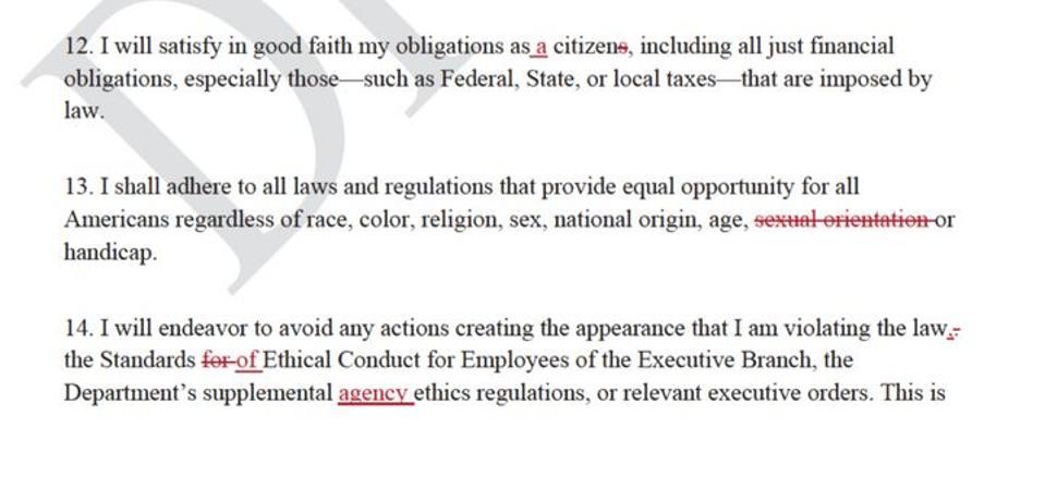 David Bernhardt letter to staff
