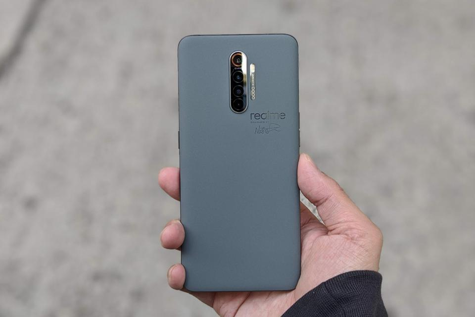 The Realme X2 Pro Master Edition is designed to resemble a block of cement.