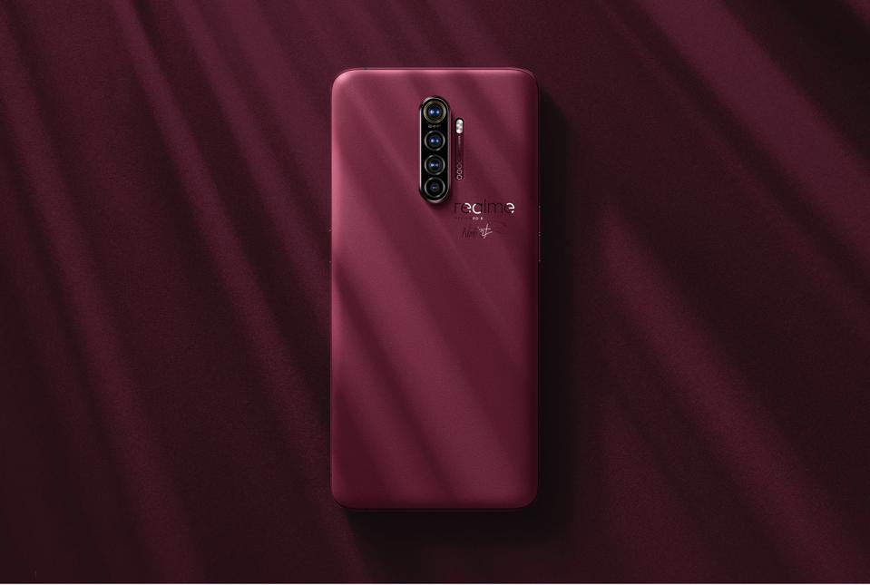 The red brick version of the Realme X2 Pro Master Edition.