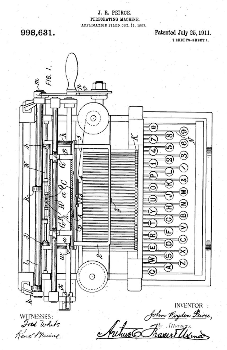 photo of the Peirce Accounting Machine