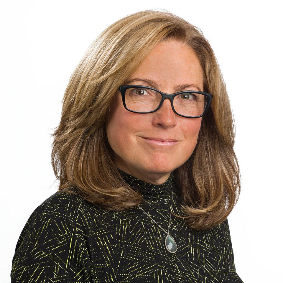 Woman wearing glasses portrait