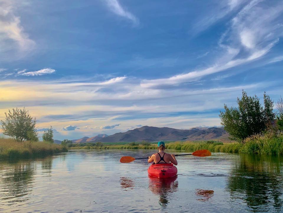 Kayaking Silver Creek