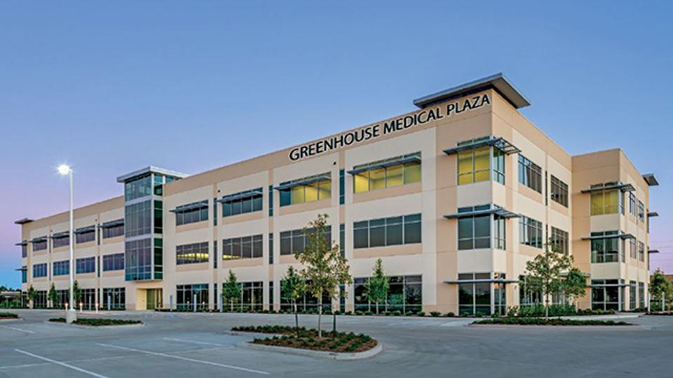 Once targeting energy companies, a 2014 office building in far west Houston has been converted by owner Transwestern into medical office space.