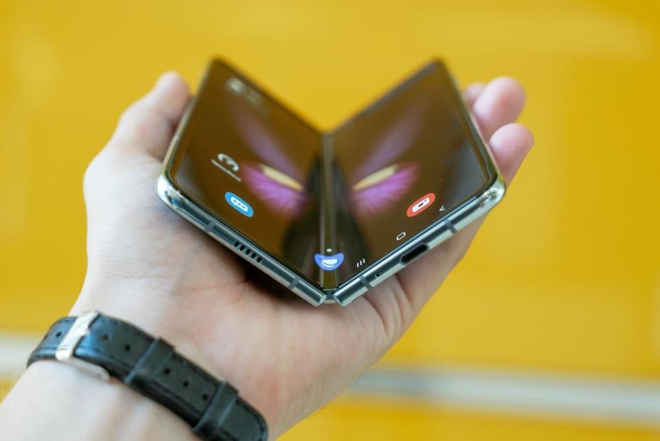 A folding dual-screen smartphone