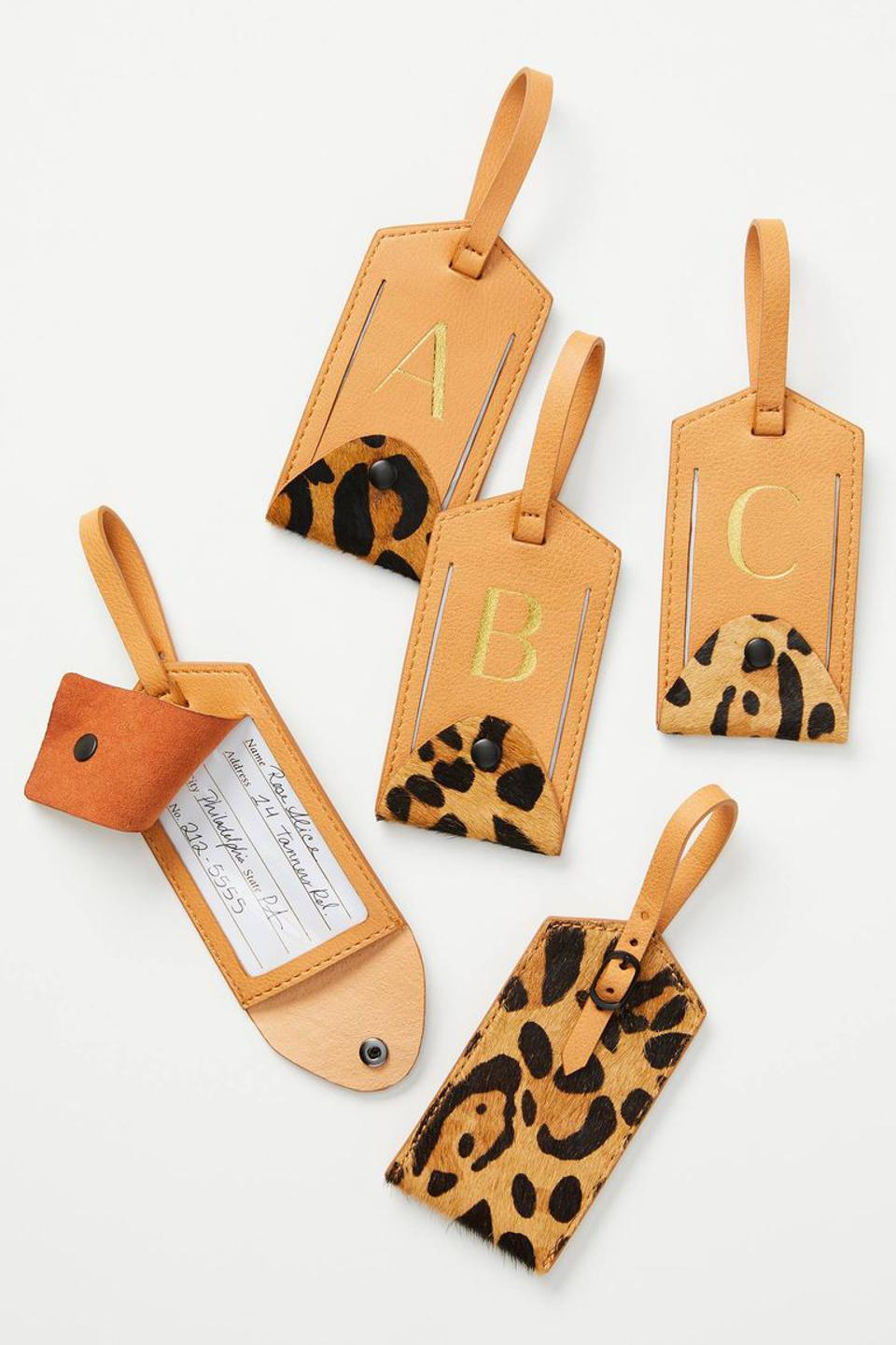 Mongrammed luggage tag from Anthropolgie