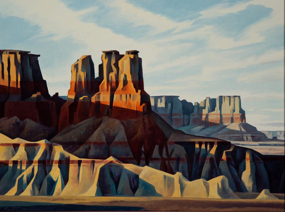 Ed Mell, 'Afternoon Shadows, Coal Mine Canyon,' 1990.