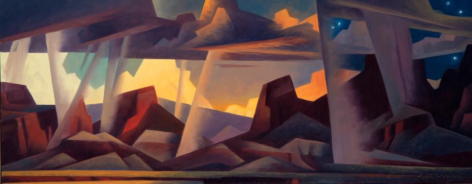 Ed Mell, 'Veils of Time,' 12x30, oil on linen, 2006.