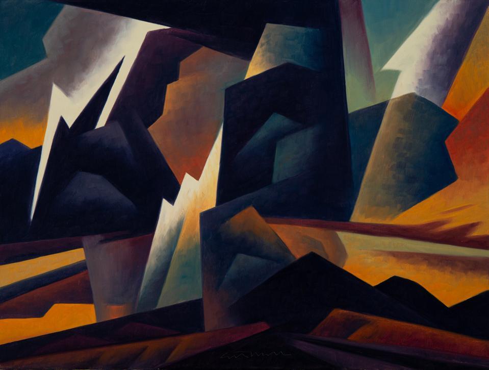 Ed Mell, 'Clashing Storm,' 15x20, oil on linen, 2011.