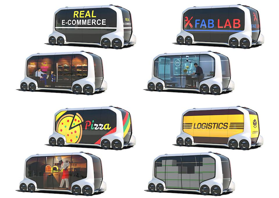 Over one dozen e-Palette vehicles will circle the Olympic Village catering to athlete's needs.