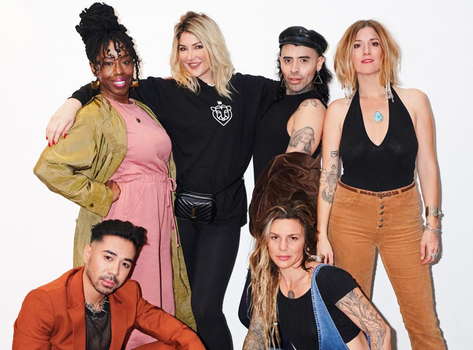 StyleSeat helps you snag impossible beauty appointments--even after hours--while also boosting stylists' revenue. From left to right: Hawa Fallay, StyleSeat founder and CEO Melody McCloskey, Jefferson Mosquera, Misty Spinney, Manee Ramos and Shayne Rocha