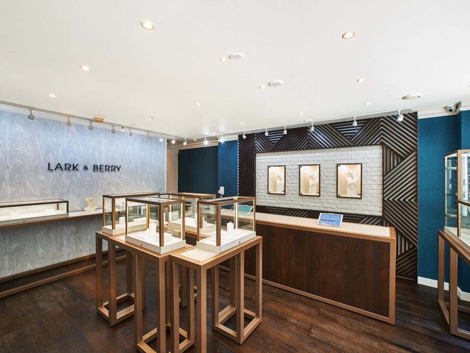 Photo of the interior of a Lark & Berry store.