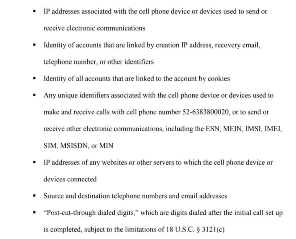 WhatsApp data order
