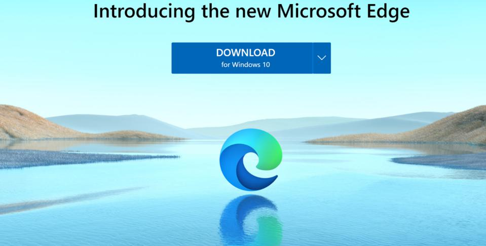 Introducing Microsoft's Edge browser with its new logo.
