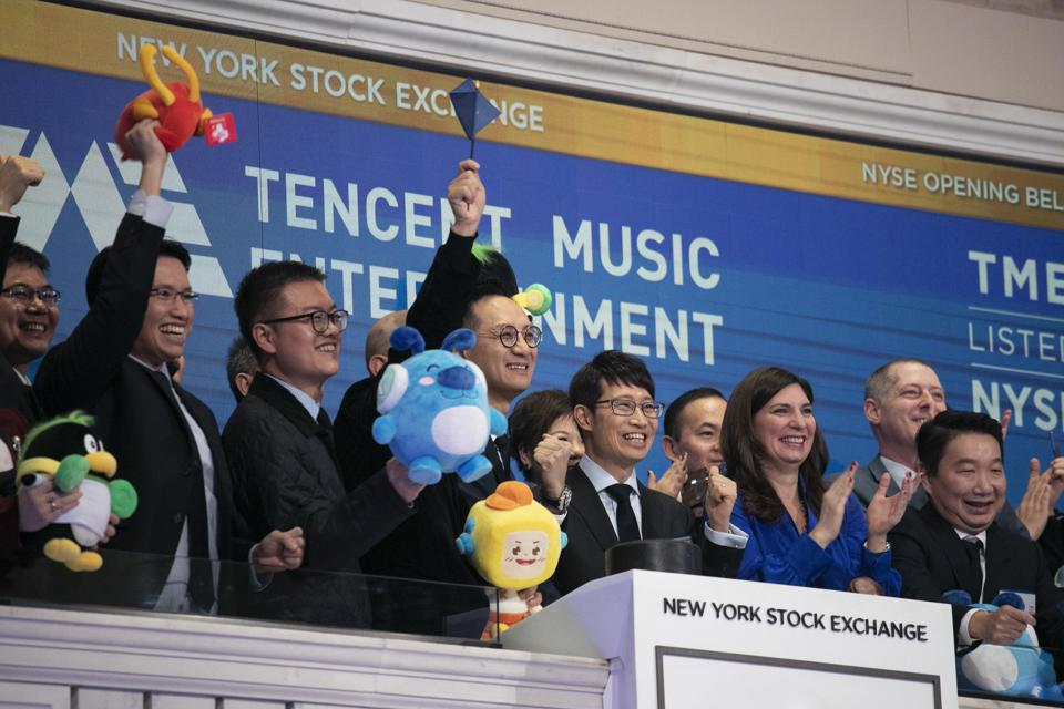 Financial Markets Wall Street Tencent IPO