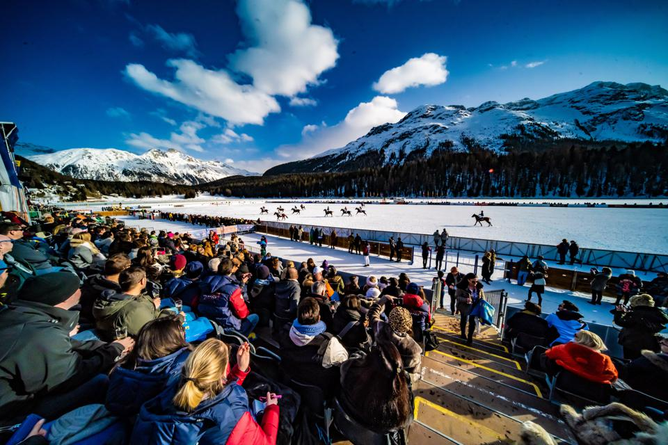 Record crowds descended upon the iconic frozen Lake St. Moritz in the heart of the Alps to watch the 36th Annual Snow Polo World Cup St. Moritz.