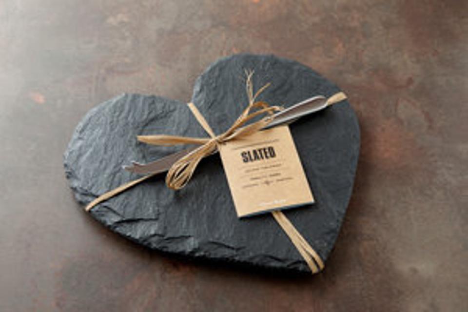 Slated Heart Slate Cheese Board