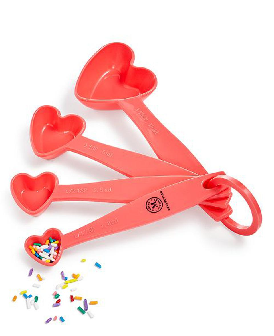 Martha Stewart Collection Heart 4-Pc. Measuring Spoon Set