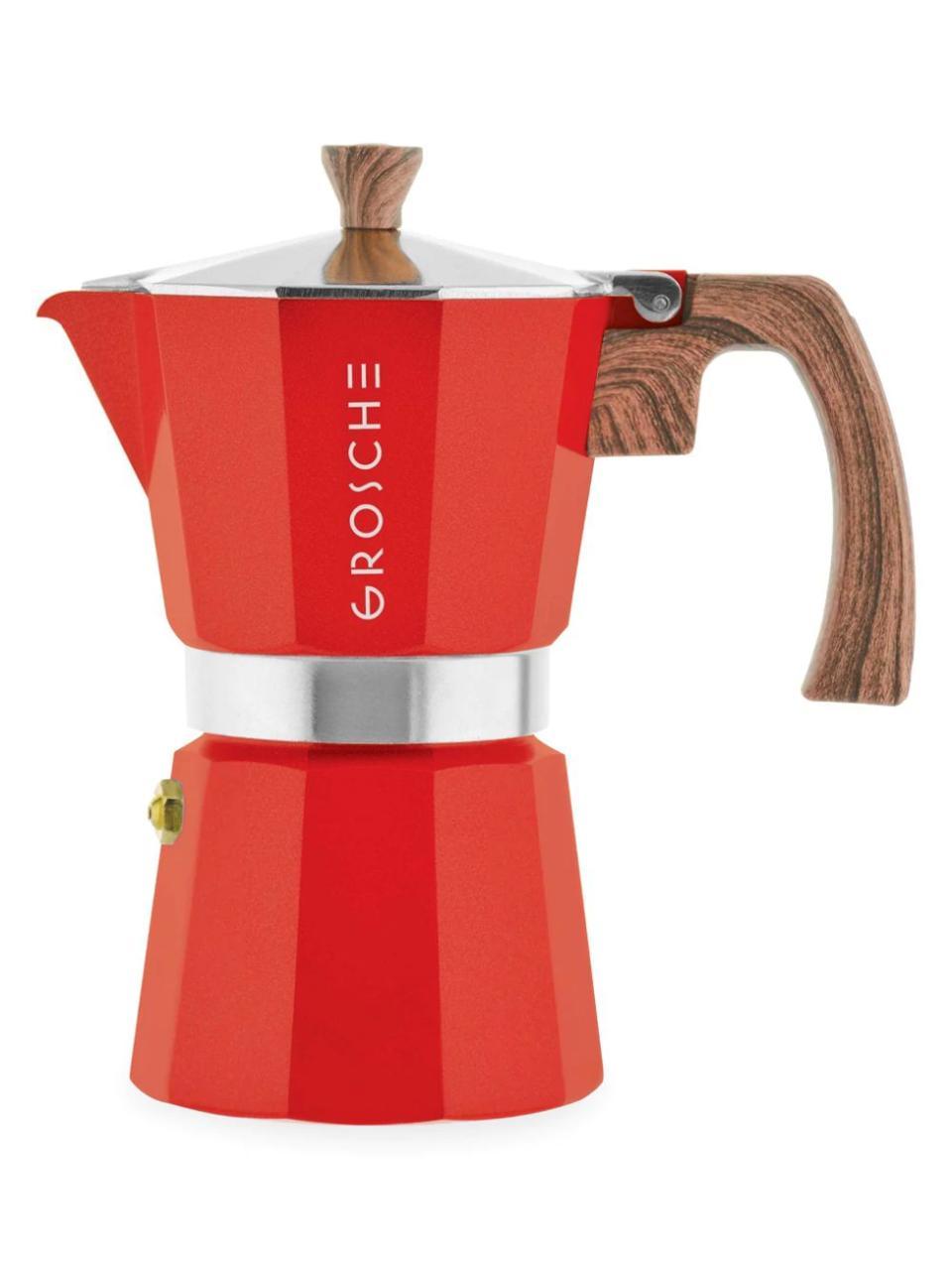 Grosche Milano Moka Three-Cup Stovetop Espresso Maker