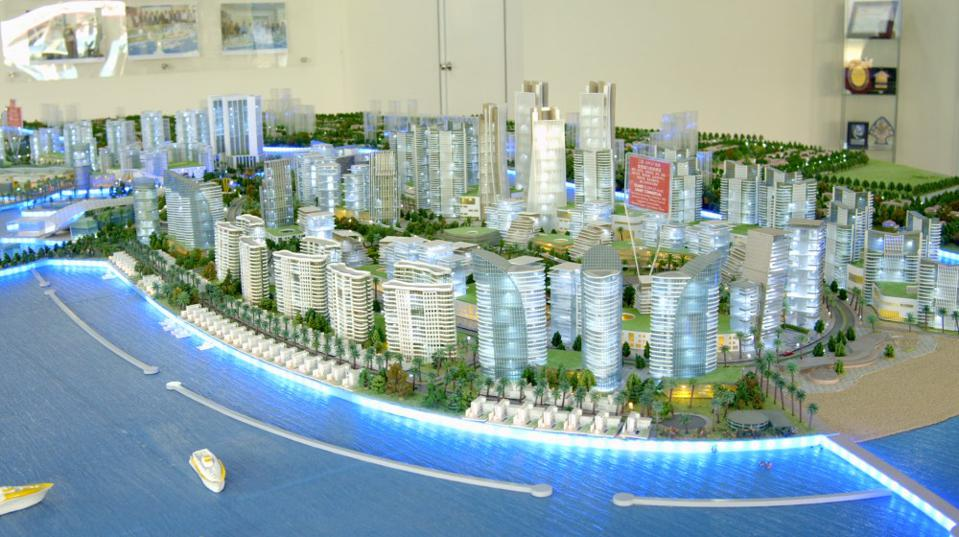 A scale render of what Melaka Gateway is supposed to become.