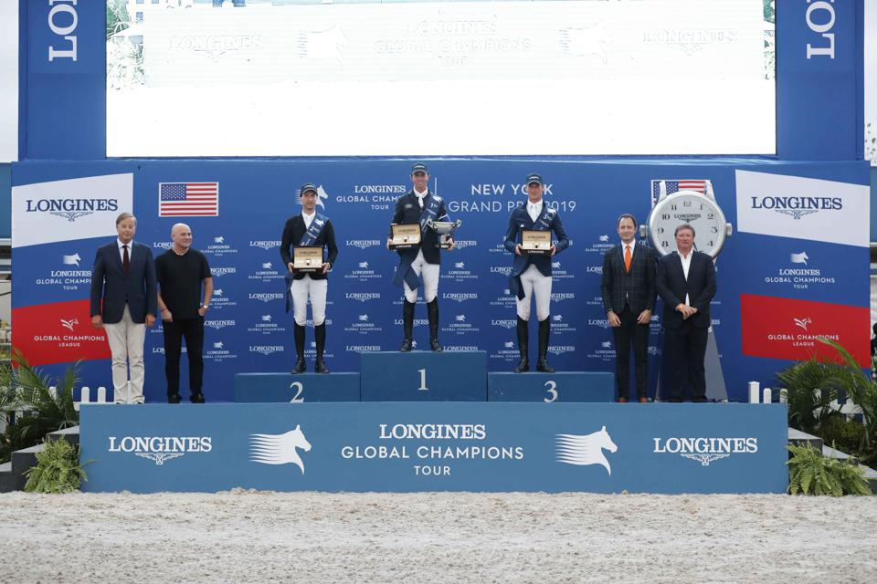 Longines Global Champions Tour winner's podium