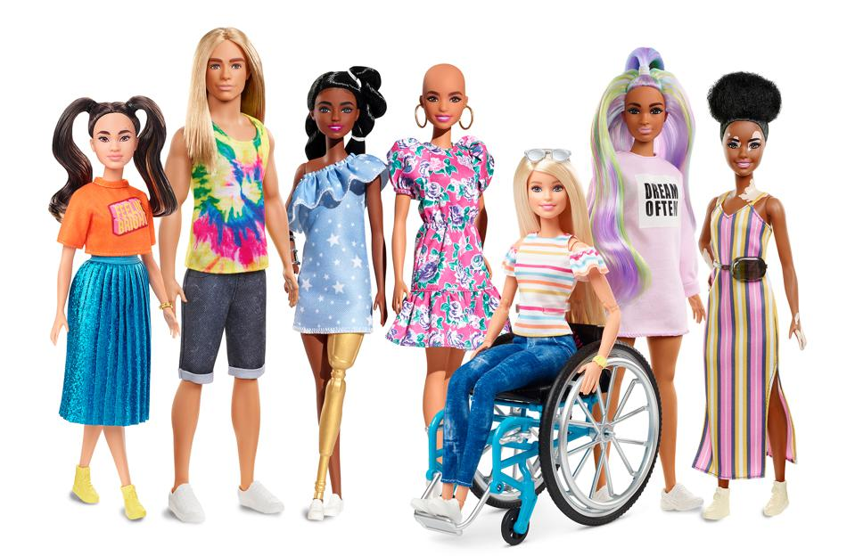 The 2020 additions to the Barbie Fashionista line.