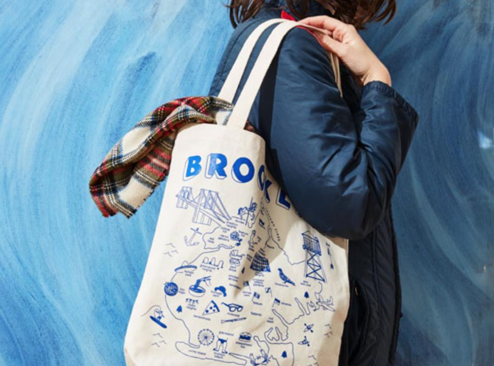 Maptote celebrates Brooklyn as well as dozens of other cities around the world.