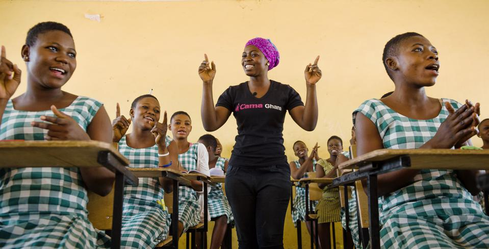 As a CAMFED Association member, Nimatu, from rural Ghana, plows back into her community by supporting more children through education and engaging with schools, traditional leaders, and government officials to champion the rights of women and girls.