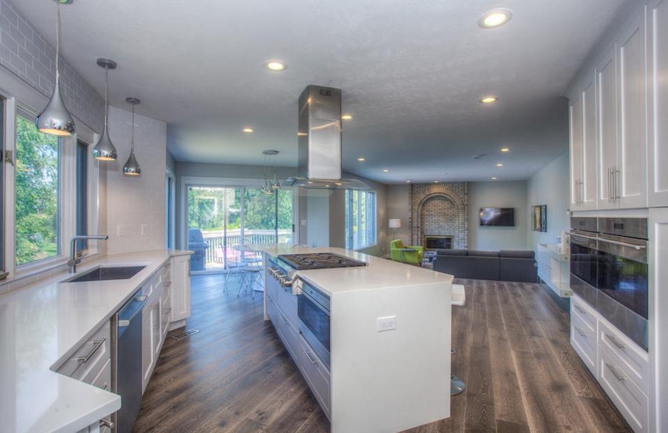 wood floors kitchen