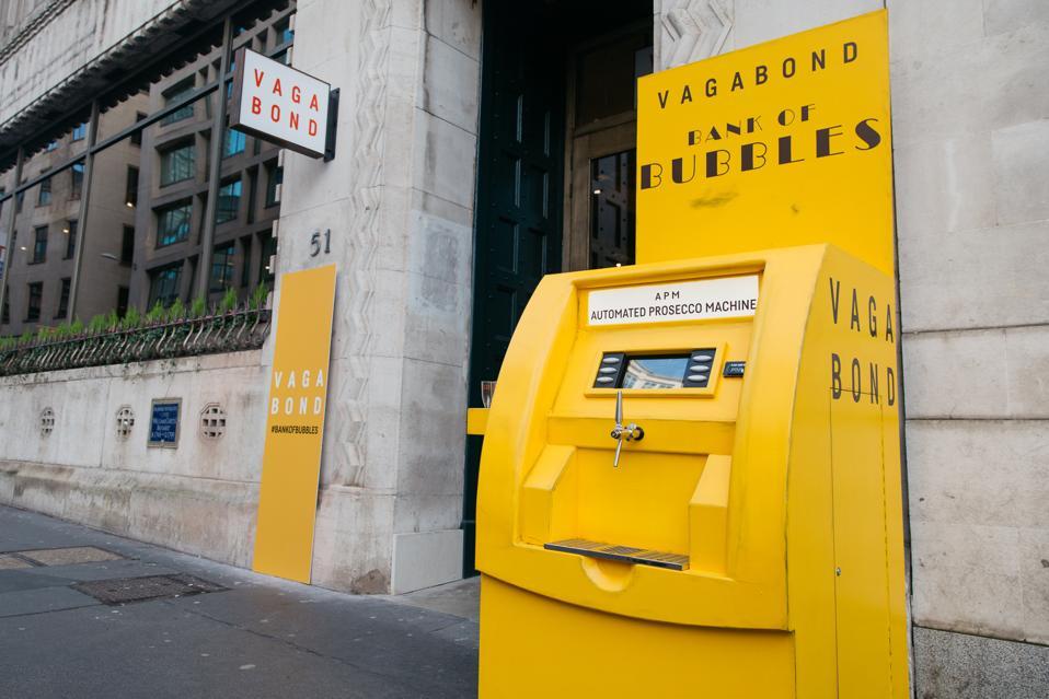 The free prosecco machine at Vagabond