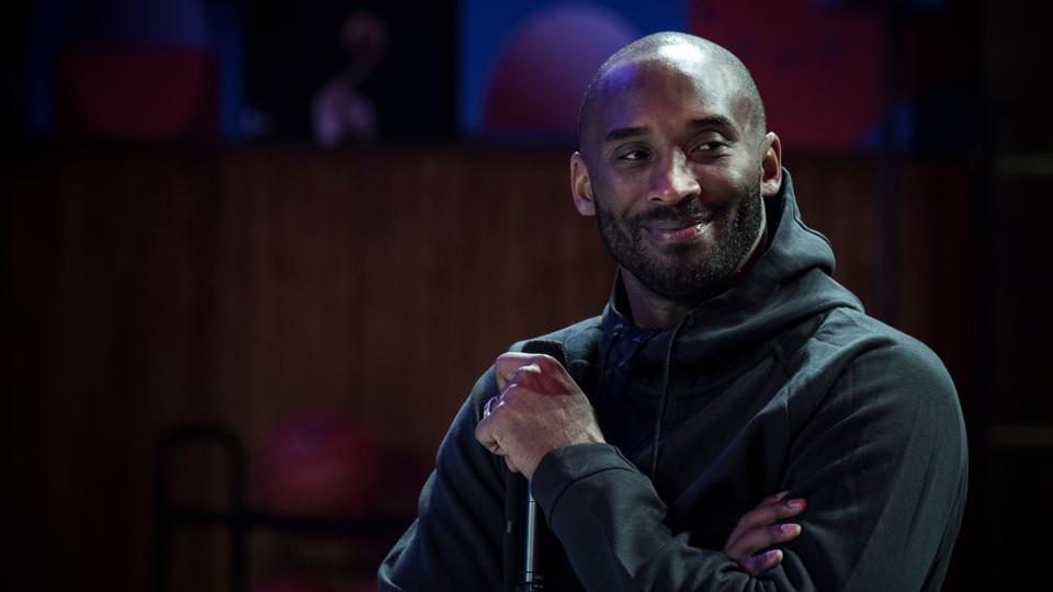 Former NBA basketball player Kobe Bryant attends a promotional event organized by Nike.