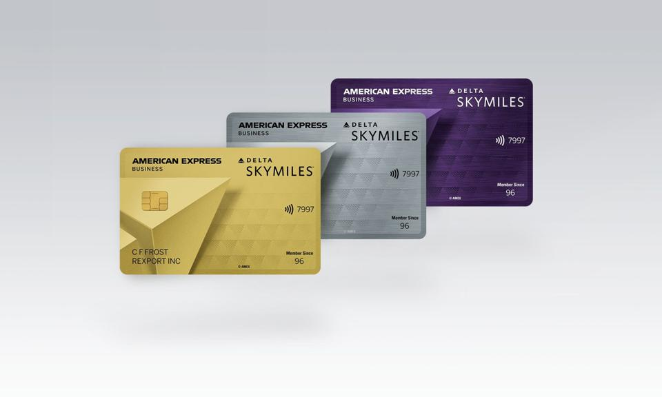 Delta's three small business cards have also undergone a refresh.