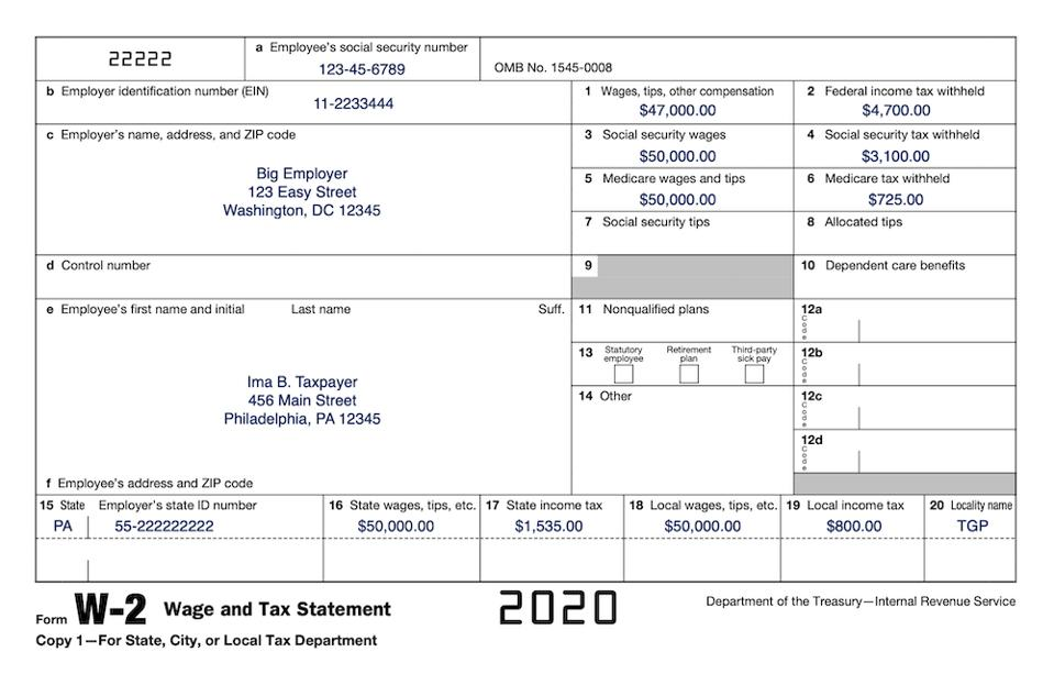 How To Read Your Form W 2 At Tax Time