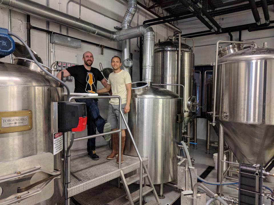 Mike Tonsmeire and Scott Janish, the co-founders of Sapwood Cellars brewery in Columbia, Maryland, expect to double production this year.
