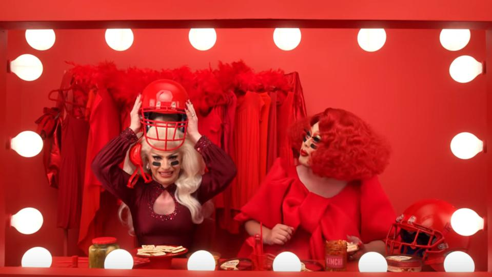 Drag queens appear in Super Bowl ad for Sabra Hummus
