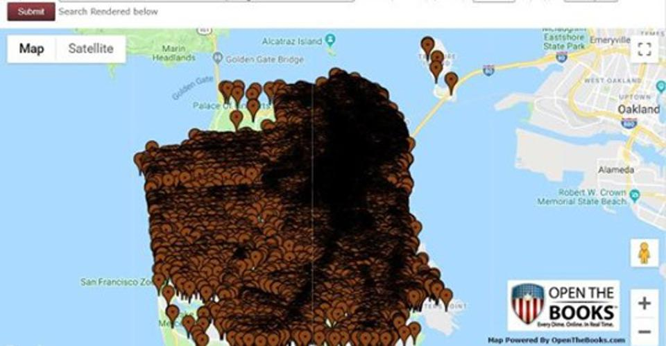 Mapping 118,000 reports of human waste on San Fran city streets 2011-2019
