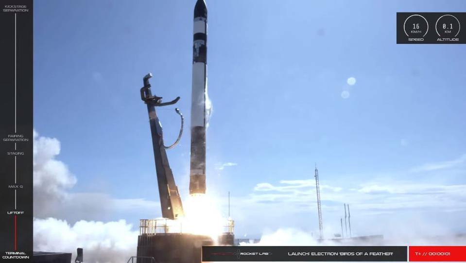 Rocket Lab Birds of a Feather launch