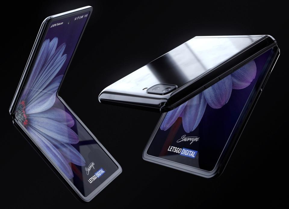 Galaxy Z Flip concept images
