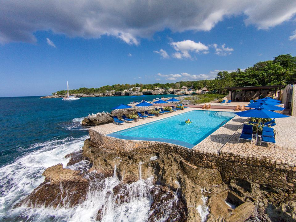 The pool at Rockhouse Hotel in Negril, Jamaica.