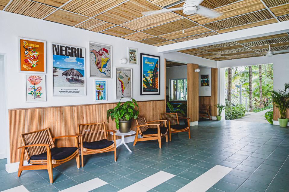 The lobby at Skylark Negril in Negril, Jamaica.
