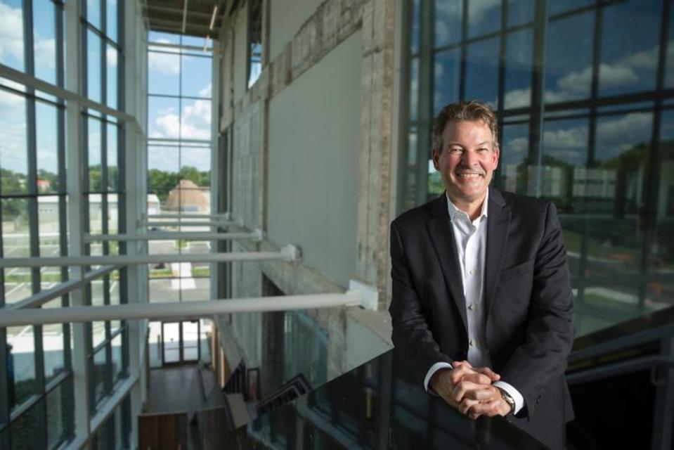University of Cincinnati chief innovation officer David Adams at the 1819 Innovation Hub.