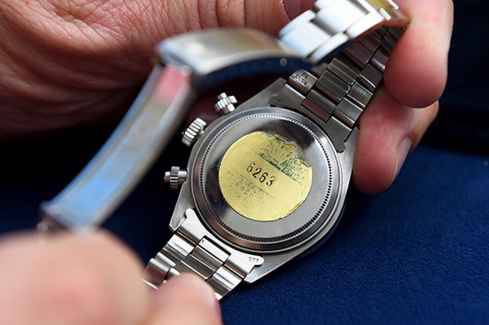 Caseback of the watch that appeared on Antiques Roadshow.