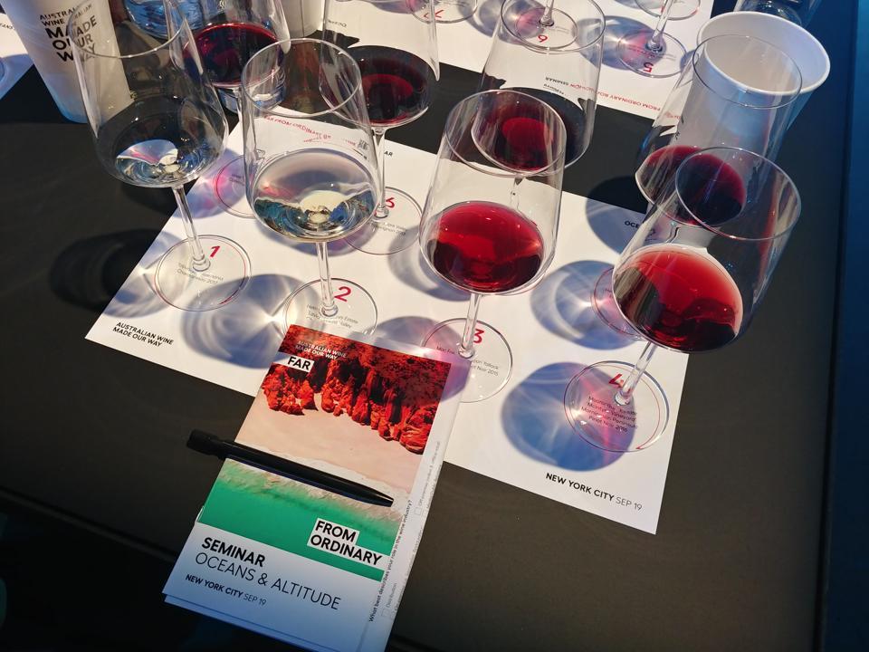 Австралийский винный семинар по влиянию океанов и высоты