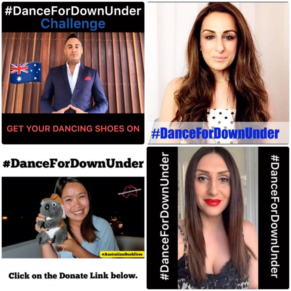 The Australian foursome's individual videos for their #DanceForDownUnder Challenge.