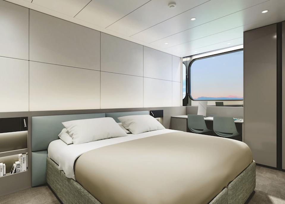 Artist's rendering, Oceanview Stateroom on Emerald Azzurra